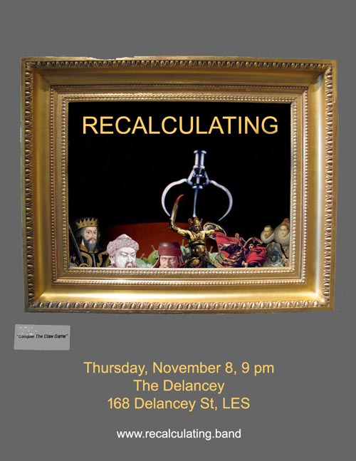 Flier, Recalculating, The Delancey, November 8, 2018